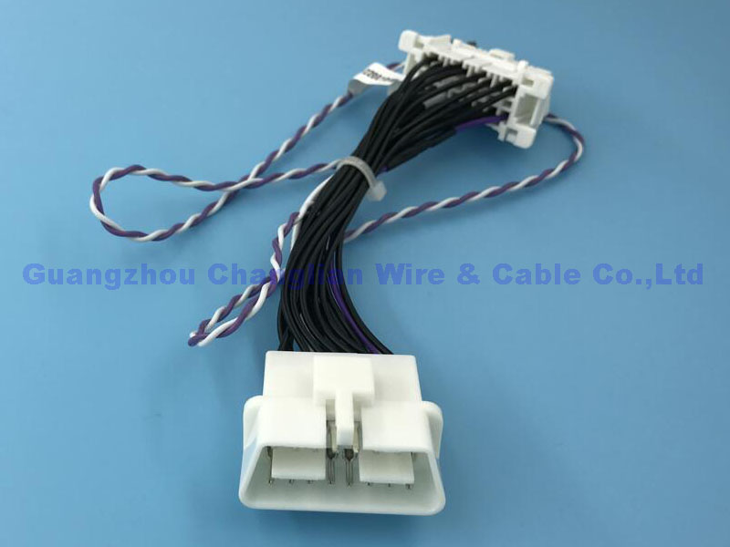 wire harness: model number:cl0052: material:amp,tyco,molex,jst /  ul,avss,teflon    next previous